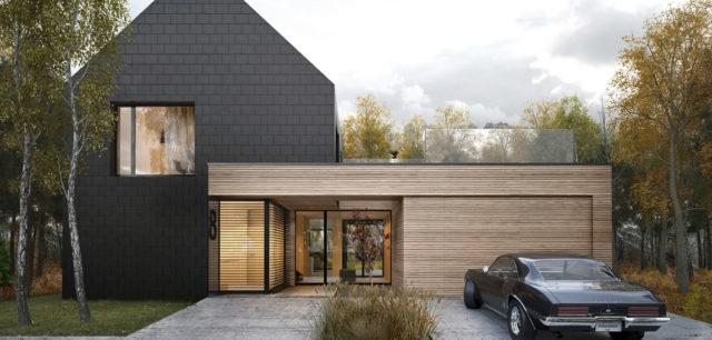Dark Plate House – antracytowy dom pracowni SPACELAB