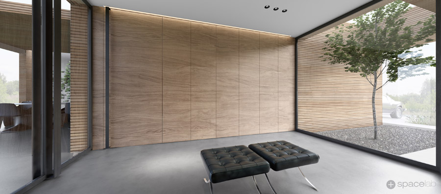 Dom jednorodzinny DARK PLATE HOUSE. Projekt wnętrz: Pracownia architektoniczna Spacelab