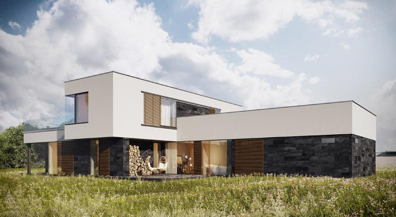 Projekt domu w Słupnie. Architektura: Andrzej Gomułka | GGP-ARCHITEKCI