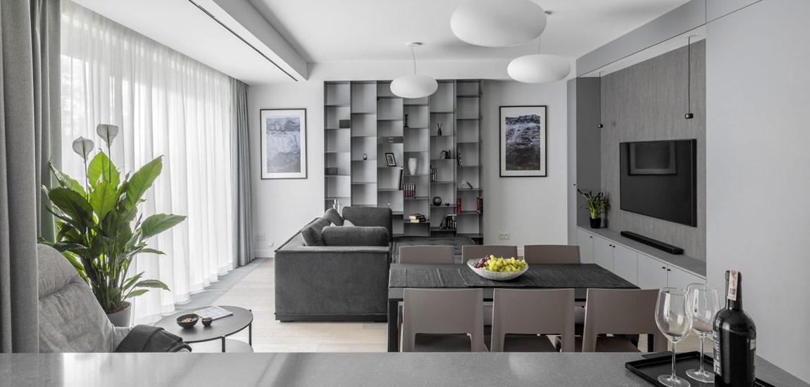 Wnętrza mieszkania w Warszawie. Projekt: Jacek Tryc - projektowanie wnętrz
