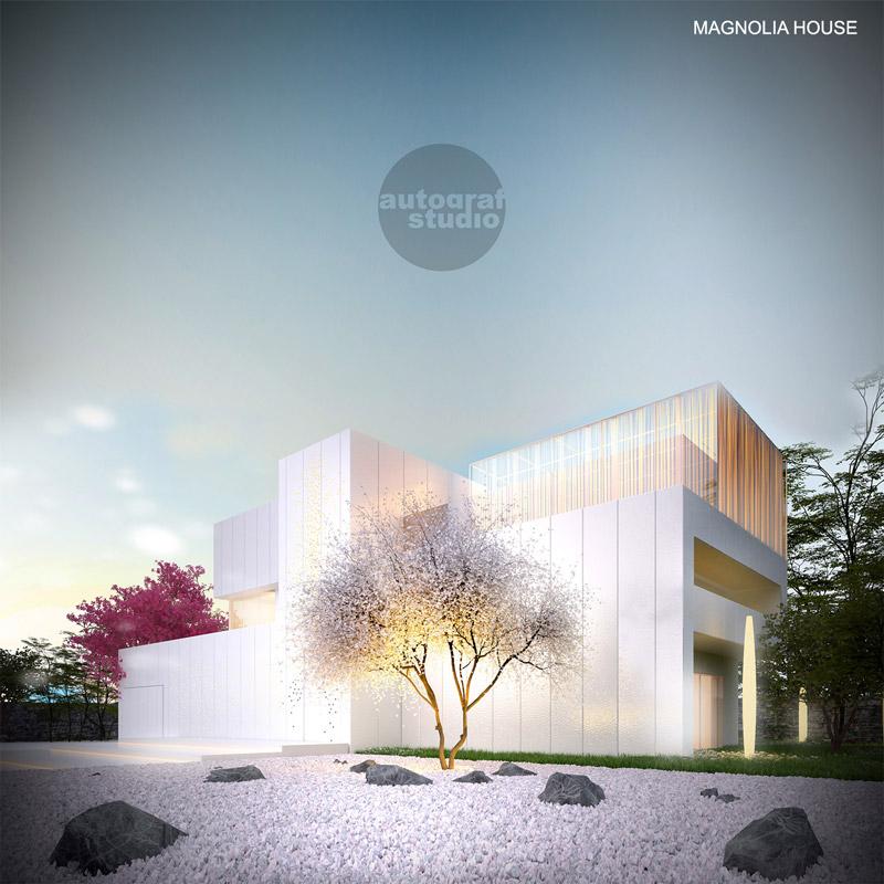 Magnolia House. Projekt: Autograf Studio