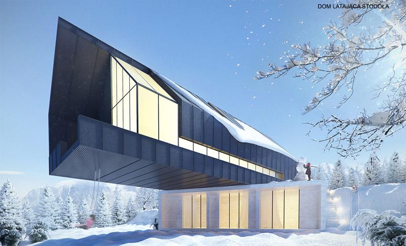 Dom Latająca Stodoła. Projekt: Autograf Studio