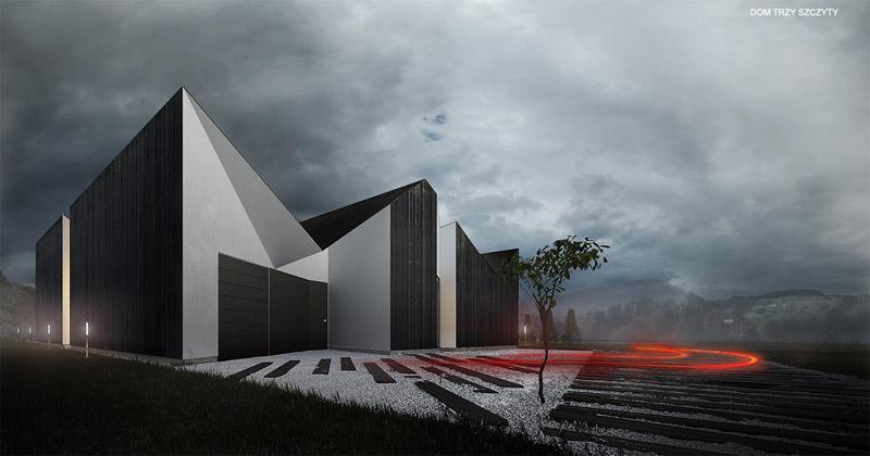 Dom Trzy Szczyty. Projekt: Autograf Studio
