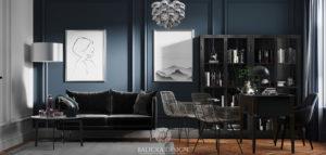 Klasyczny apartament przełamany nowoczesnymi formami autorstwa pracowni Balicka Design