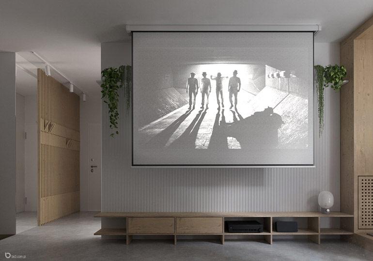 Wnętrza mieszkania, Ochota, Warszawa. Projekt: be3 pracownia projektowa