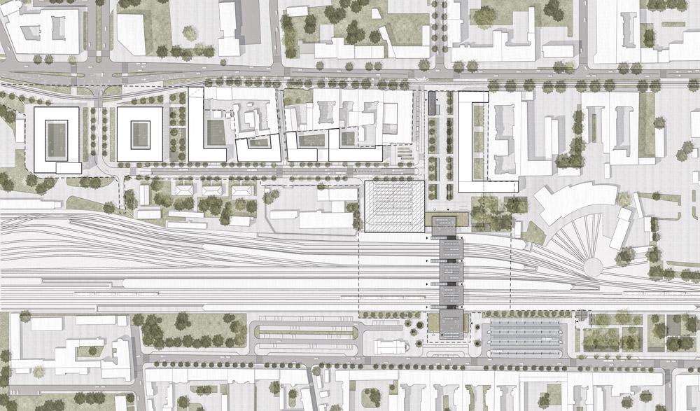 Dworzec Częstochowa Główna. II Nagroda w konkursie:Domino grupa architektoniczna