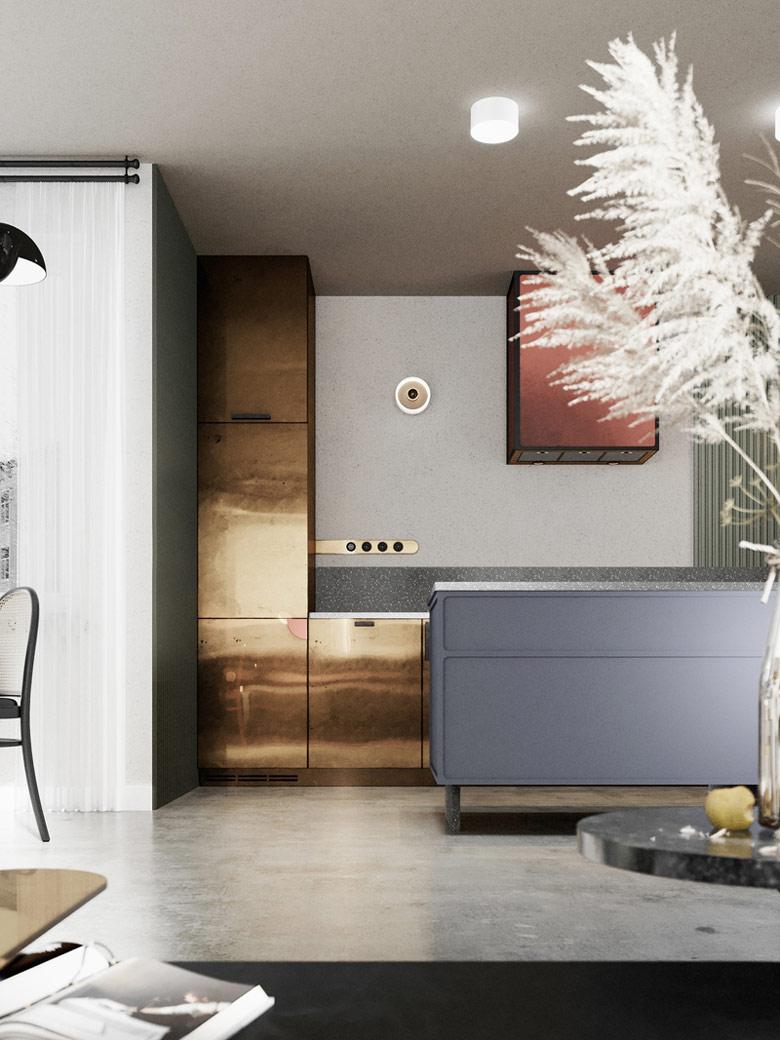 Wnętrza mieszkania inspirowane Bauhausem. Projekt: Studio Projektowania Wnętrz Inbalance. Wizualizacje: Will Be Studio