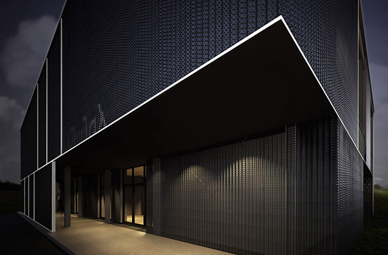 Budynek biurowy w Kołbaskowie. Autorzy: Biuro projektowe maxberg