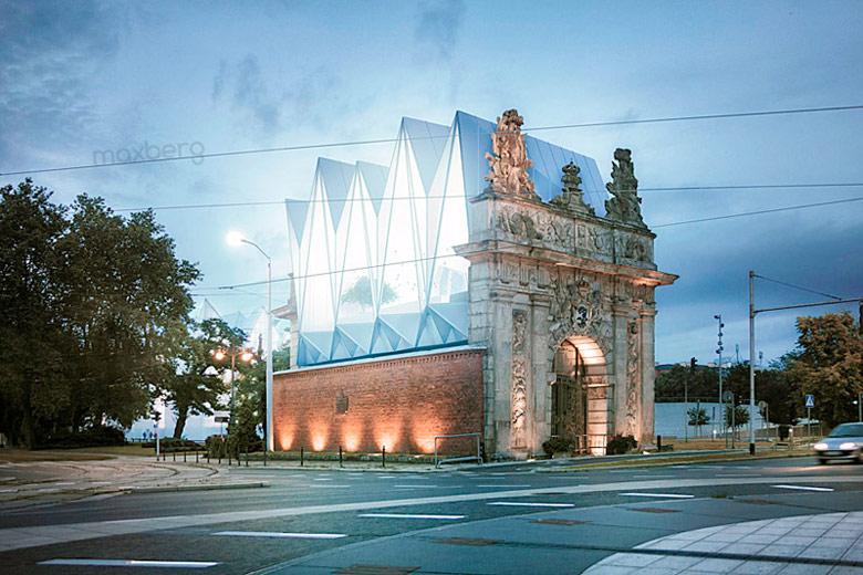 Brama Królewska w Szczecinie. Autorzy: Biuro projektowe maxberg