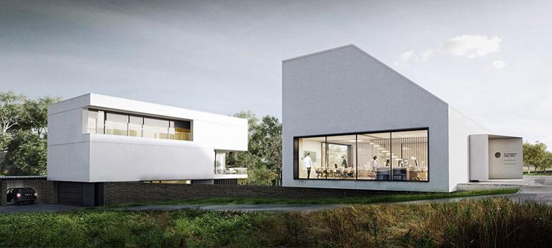 Dom i budynek usługowy w Karnicach. Autorzy: Biuro projektowe maxberg