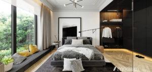 Biel, czerń i minimalistyczne formy. Apartament projektu modeko.studio