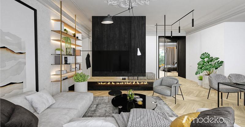 Apartament na Mokotowie, Warszawa. Projekt: modeko.studio
