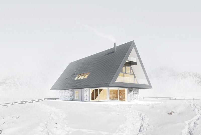 Dom z prywatnym Giewontem, Kościelisko. Projekt: BXBstudio Bogusław Barnaś