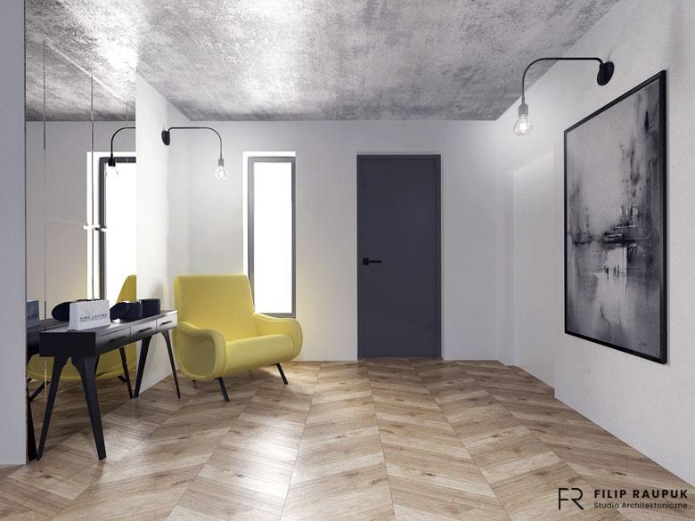 Eklektyczne wnętrza domu w Szczecinie. Projekt: Filip Raupuk Studio Architektoniczne