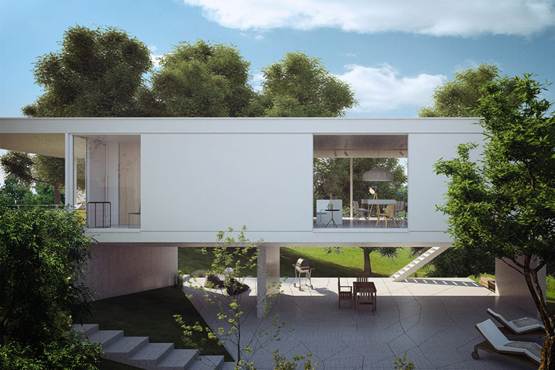Dom na Skarpie, Katowice. Projekt:MUS ARCHITECTS