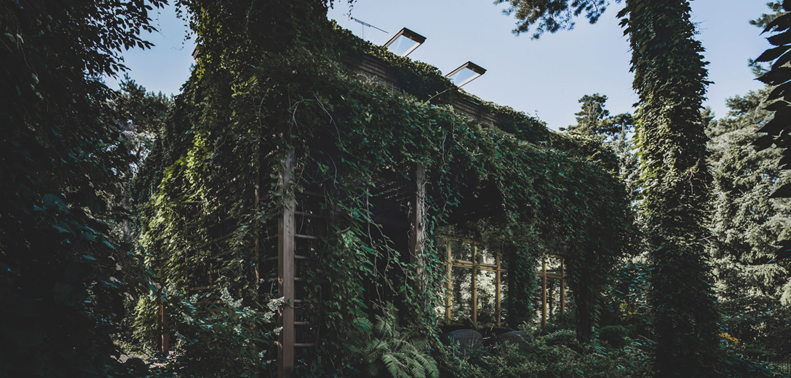 Magiczny, zanurzony w zieleni dom w Konstancinie pracowni MAZM