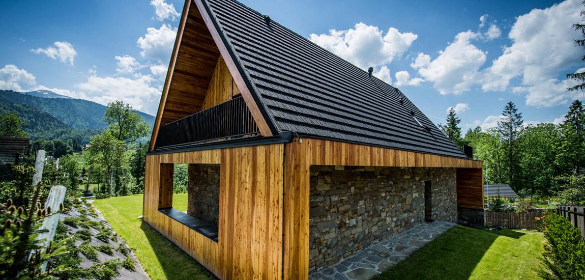 Willa Frame – Współczesny dom w górach pracowni Karpiel Steindel Architektura
