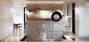 Mieszkanie miłośnika motoryzacji i zabytkowych samochodów projektu studia hilight.design