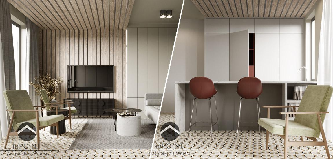 Mieszkanie z nutą vintage. Projekt: inPOINT Architektura Wnętrz