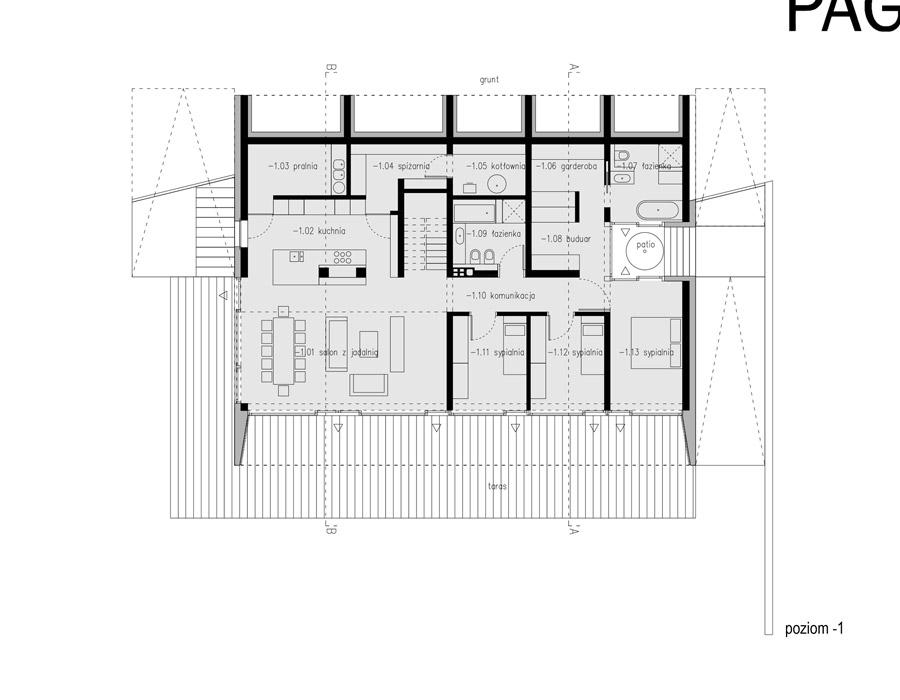Dom na skarpie. Projekt: PAG | Pracownia Architektury Głowacki