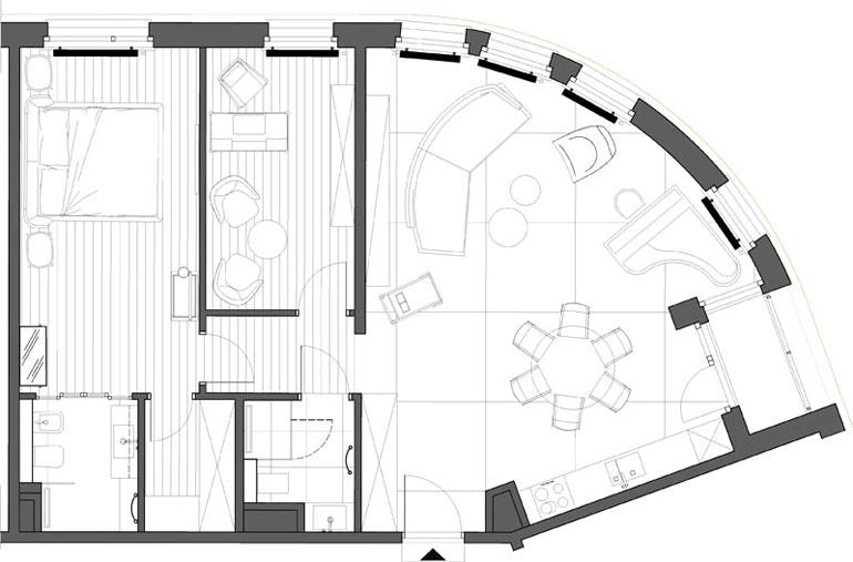 Wnętrza apartamentu na Osiedlu Garnizon w Gdańsku. Projekt: Marta Koniczuk | Pracownia architektury wnętrz