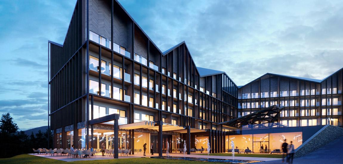Elements Hotel & Spa, Świeradów Zdrój. Projekt: Q2Studio. Wizualizacje: BLOK studio