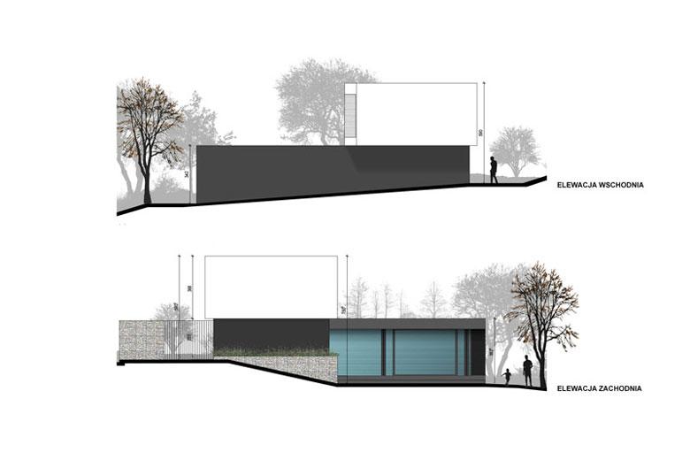 Dom z prześwitem. Projekt: RS+ Robert Skitek