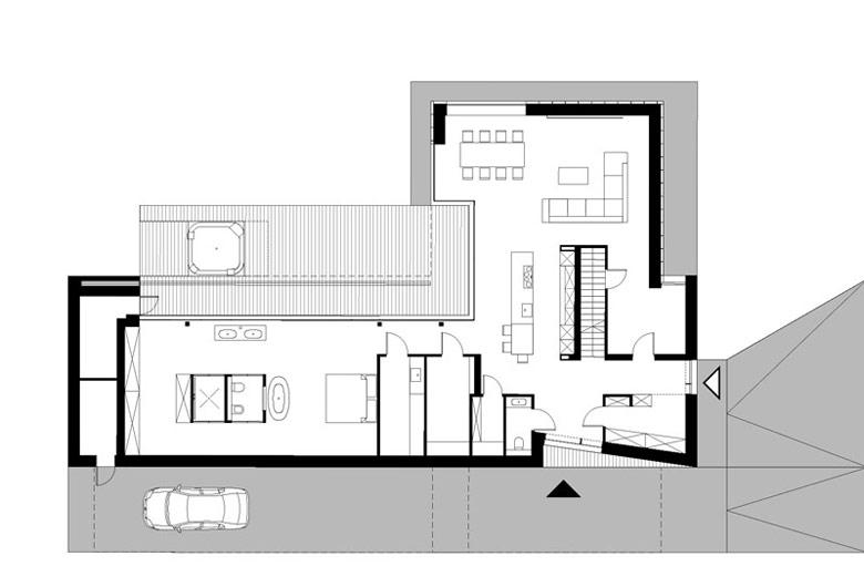 Dom Przełamany, Oporów, Wrocław. Projekt: S3NS Architektura – Igor Kaźmierczak