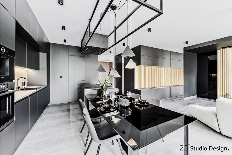 Apartament w Warszawie. Projekt wnętrz: 22pm Studio Design Rafał Gochna. Zdjęcia: Mariusz Klarowicz