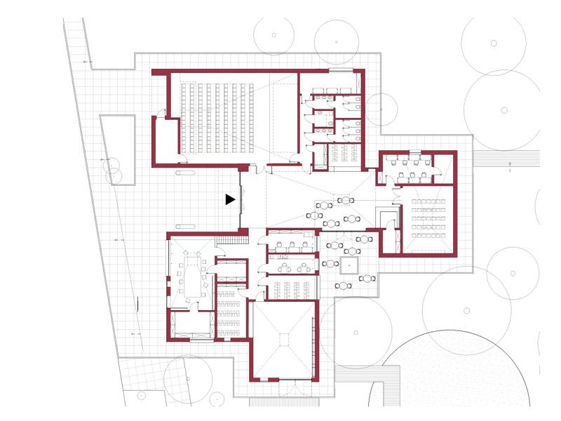 Centrum Inicjatyw Kulturalnych w Komorowie. Projekt konkursowy: studio 89 stopni
