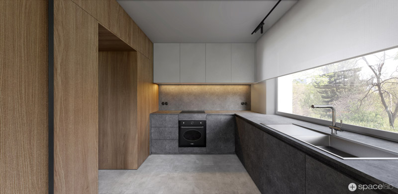 Wnętrza domu w Puszczykowie. Projekt:Pracownia architektoniczna Spacelab