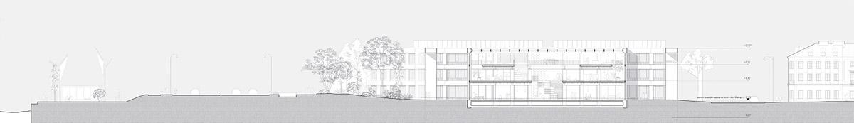 Budynek naukowo-dydaktyczny przy ulicy Bednarskiej w Warszawie. I Nagroda w konkursie: BBGK Architekci