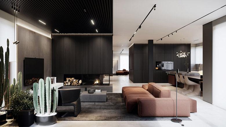 "Wnętrza domu ""Villa Natura"" w Warszawie. Projekt:hilight.design"