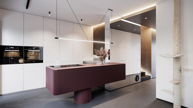 Apartament w Krakowie. Projekt wnętrz:hilight.design