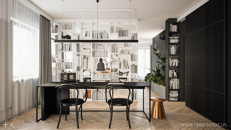Apartament na Żoliborzu. Projekt wnętrz:TK Architekci