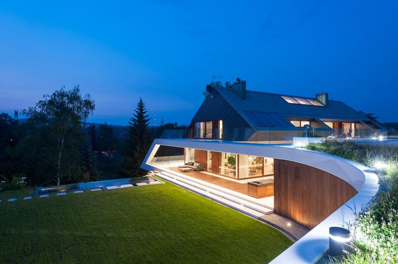 Dom Edge House. Projekt: Przemek Olczyk   Mobius Architekci