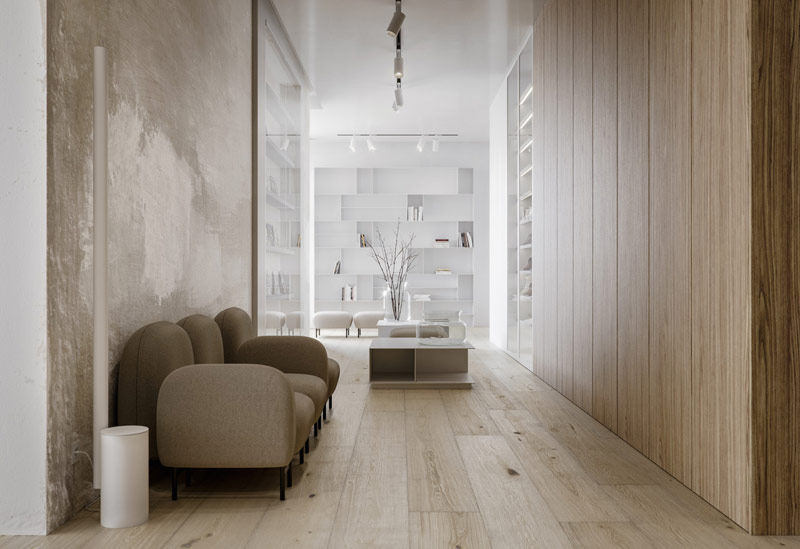 Wnętrza apartamentu, Warszawa. Projekt:STUDIO.O. organic design. Wizualizacje: Michał Nowak
