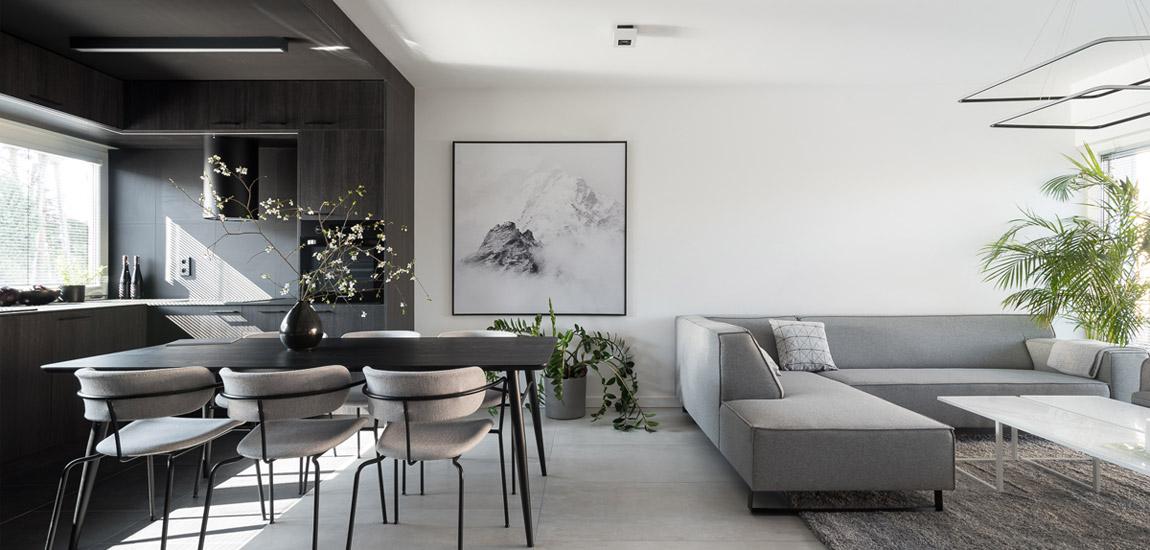 Wnętrza bez zbędnych dekoracji. Minimalistyczne mieszkanie projektu biura ENDE