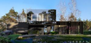 Efektowny dom w leśnej scenerii pracowni JABRAARCHITECTS