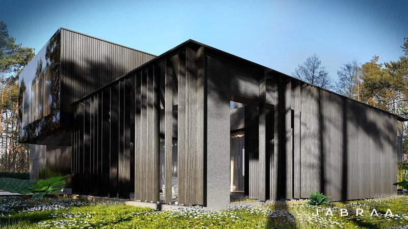 MONOHROM |Dom w Izabelinie. Projekt: JABRAARCHITECTS Tomasz Zaleski