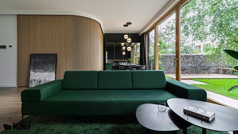 """Projekt """"Ostródzka"""", wnętrza domu jednorodzinnego projektu KAEL Architekci"""