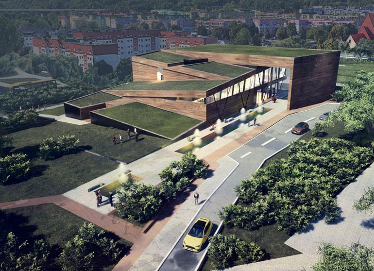Centrum Aktywności Lokalnej w Szczecinie. Projekt: Natalia Tomaszewska