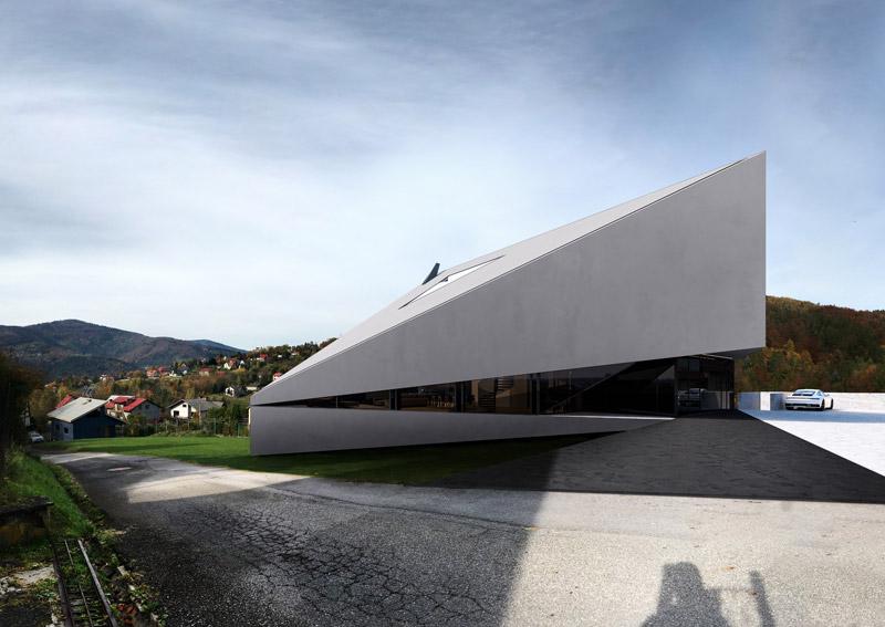 Dom inspirowany górzystym terenem projektu pracowni REFORM Architekt
