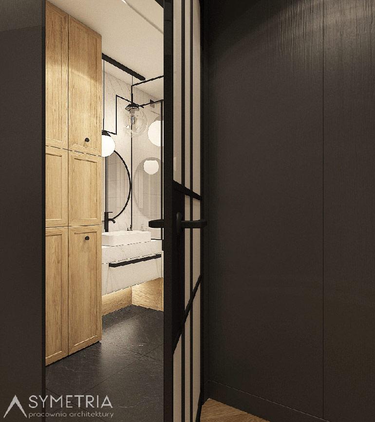 Wnętrza mieszkania w Warszawie. Projekt: SYMETRIA Pracownia Architektury