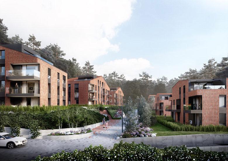 Zespół budynków mieszkalnych z usługami Oliva Koncept. Projekt: Arch-Deco. Wizualizacje: POTE Graphics