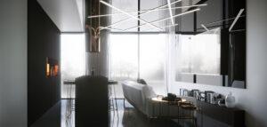 Wnętrza dla miłośnika science fiction. Apartament Kometa projektu Autograf Studio