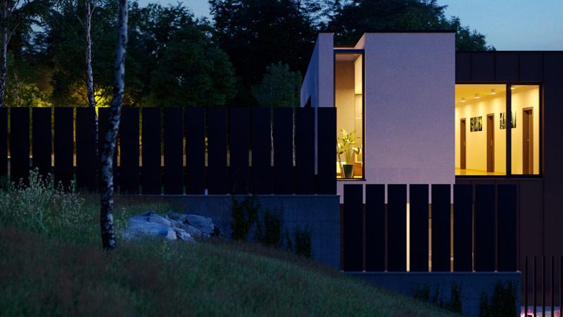 """Dom jednorodzinny """"WAR House"""". Projekt: BECZAK / BECZAK / ARCHITEKCI"""