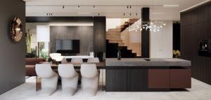 Szyk, elegancja i najwyższej jakości materiały. Wnętrza domu projektu hilight.design