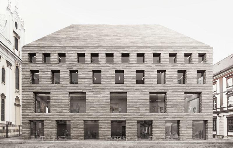 Zwycięska koncepcja budynku Muzeum Książąt Lubomirskich projektu Pracowni Architektonicznej WXCA