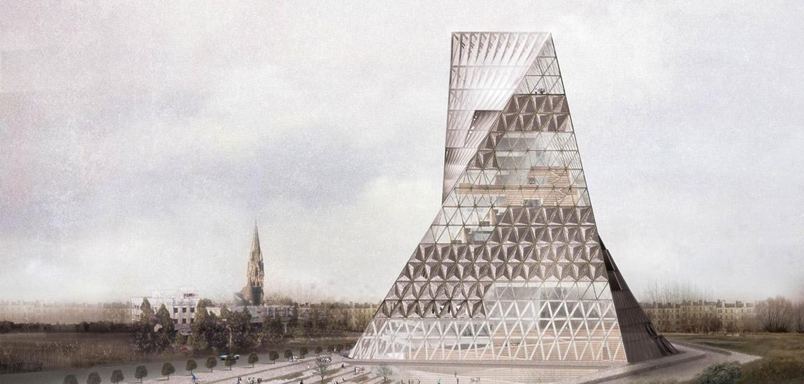 Warszawska Wieża Książek. Projekt: Just Open Architecture (JOA)